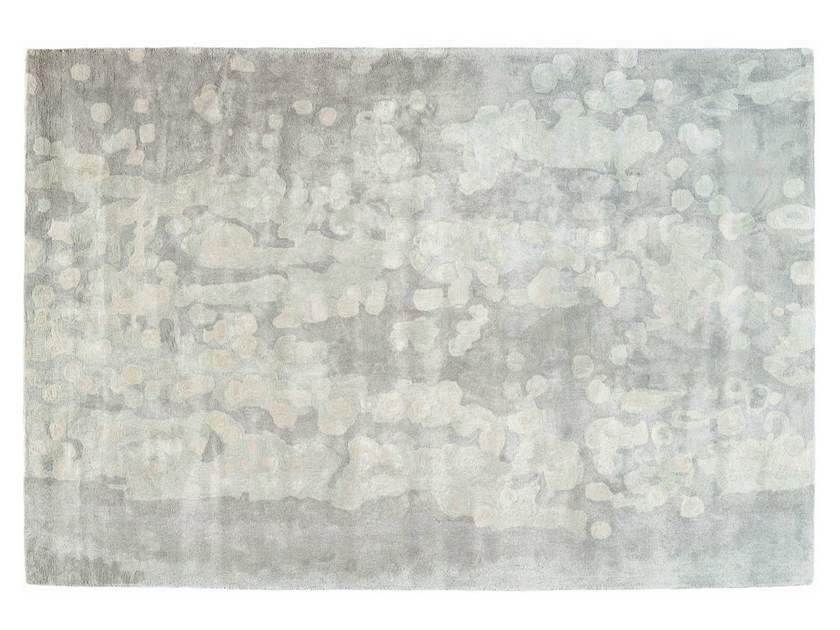 Patterned rectangular silk rug FOGGY CALIFORNIA - Toulemonde Bochart