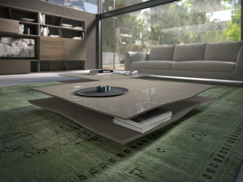 Low lacquered wooden coffee table FOGLIO - Presotto Industrie Mobili