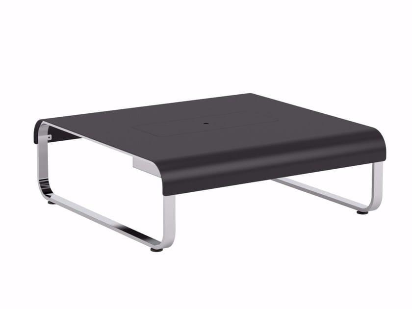 Square aluminium garden side table FOLD   Aluminium coffee table - ROYAL BOTANIA