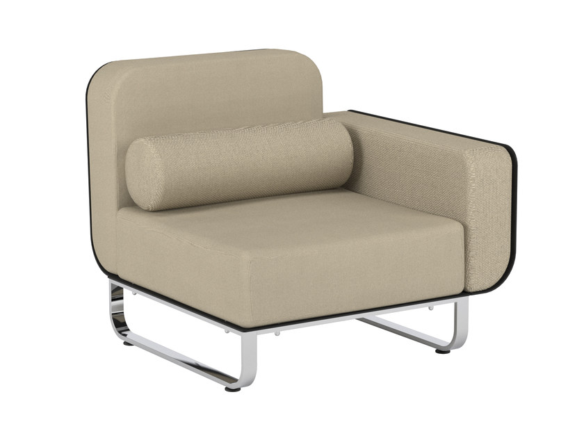 Modular fabric garden armchair with armrests FOLD | Armchair with armrests - ROYAL BOTANIA