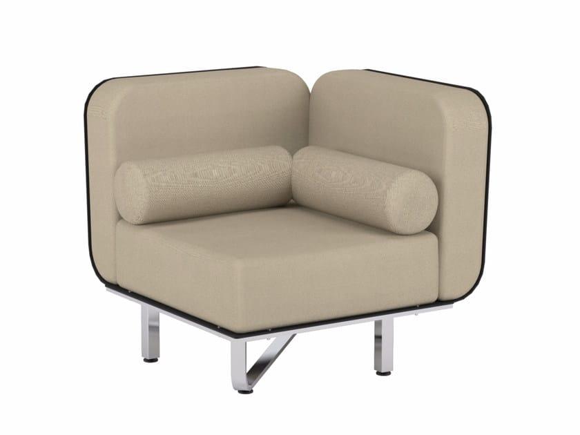 Corner fabric garden armchair FOLD | Corner armchair - ROYAL BOTANIA