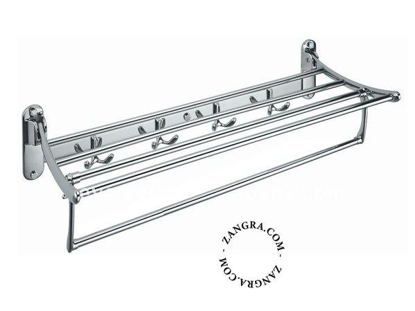 Stainless steel towel rack / bathroom wall shelf BATHROOM | Stainless steel towel rack - ZANGRA