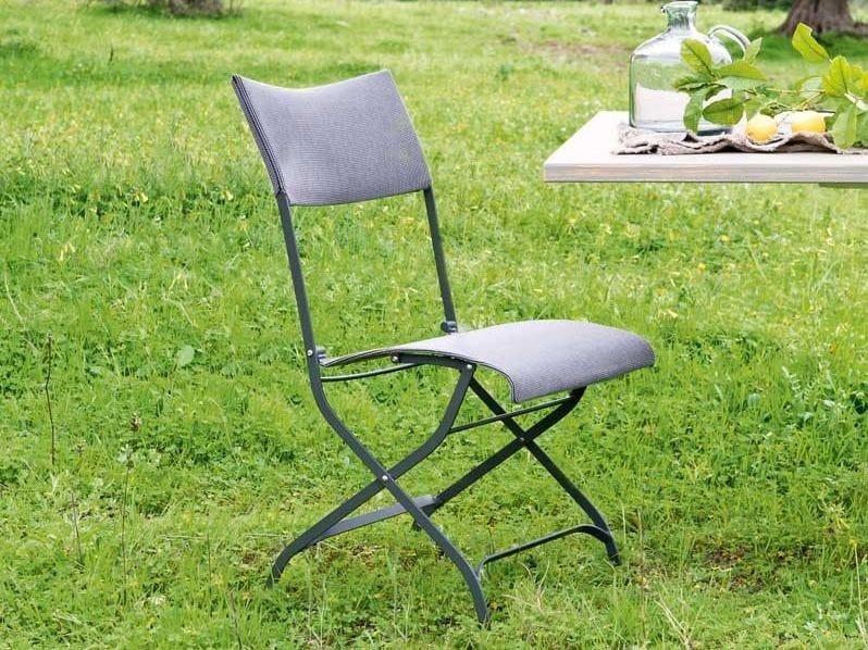 Folding iron garden chair MINERVA | Folding chair by Unopiù
