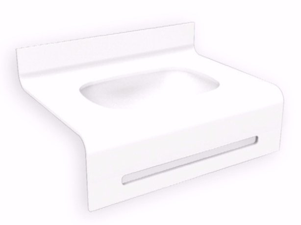 Inset Corian® washbasin FOLHA | Oval washbasin - AMA Design