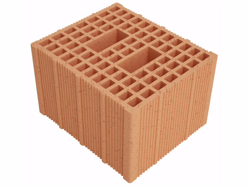 Clay building block Fonomur RW300 S25 by Fornaci Ioniche