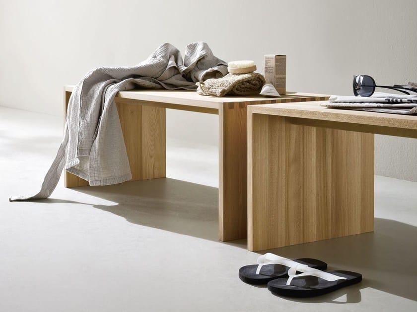 Ash bench for bathroom FONTE | Bench by Rexa Design