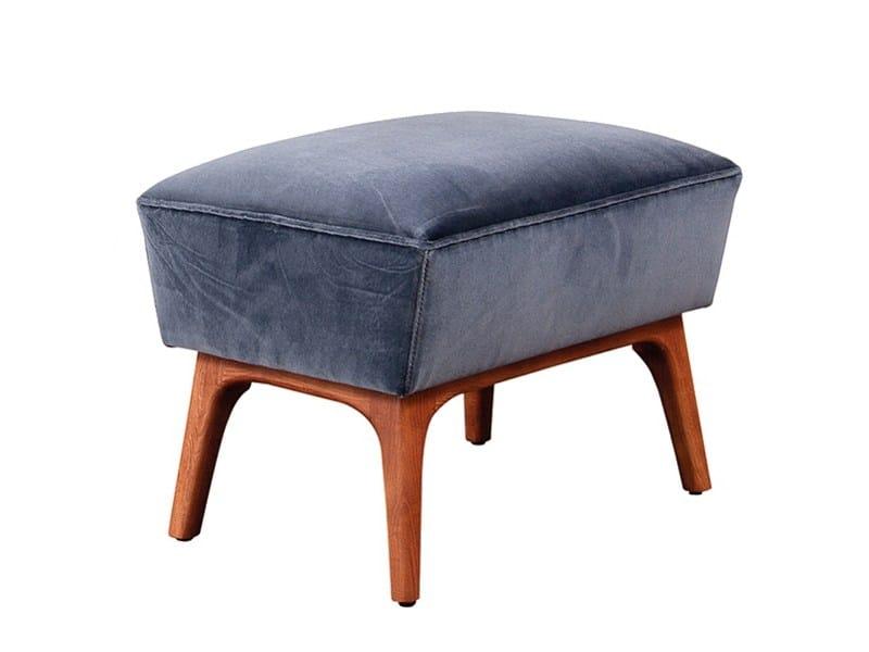 Fabric footstool SODRÉ | Footstool - Branco sobre Branco