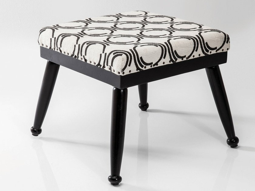 Fabric footstool FJORD COUNTY | Footstool - KARE-DESIGN