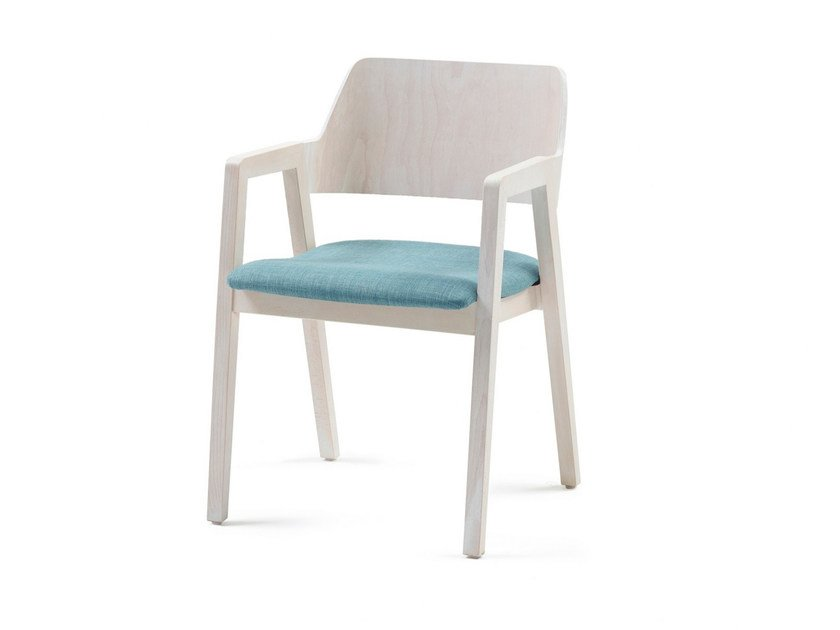 Upholstered fabric chair with armrests FORD 03 + A - Z-Editions