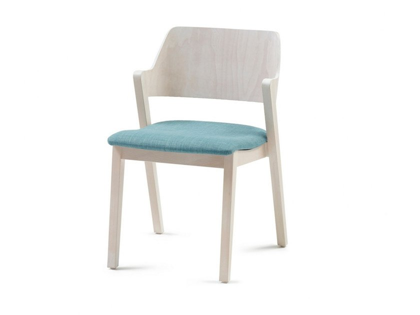Upholstered stackable fabric chair FORD 03 ST - Z-Editions