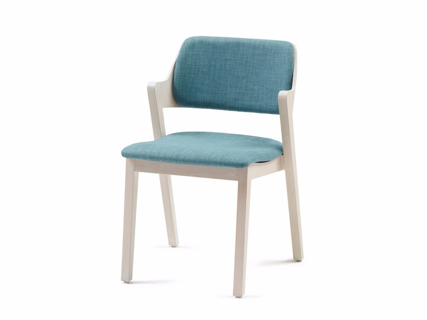 Upholstered stackable fabric chair FORD 05 ST by Z-Editions