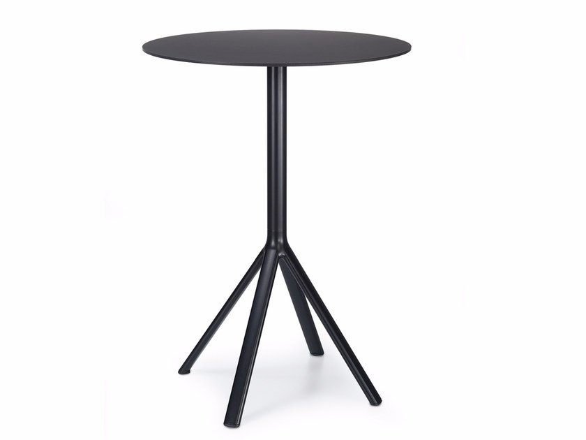 Round aluminium high table FORK | High table - Lapalma
