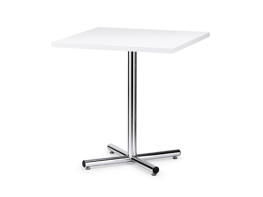 Square HPL contract table FORMEO IS1 7070N by Interstuhl