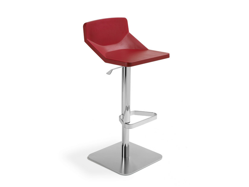 Height-adjustable swivel stool with footrest FORMULA   Sgabello ad altezza regolabile - AREA DECLIC