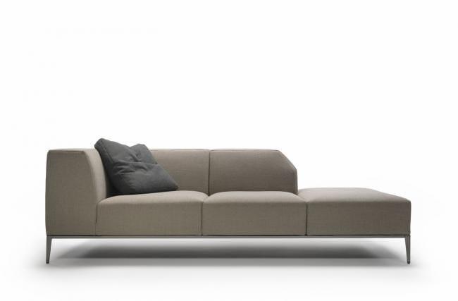 Corner sectional fabric sofa FORTYFIVE | Corner sofa - Minimomassimo