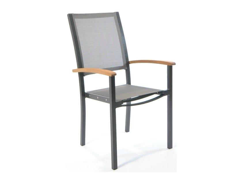 Sedia da giardino in alluminio con braccioli con schienale alto FORUM | Sedia con schienale alto - FISCHER MÖBEL