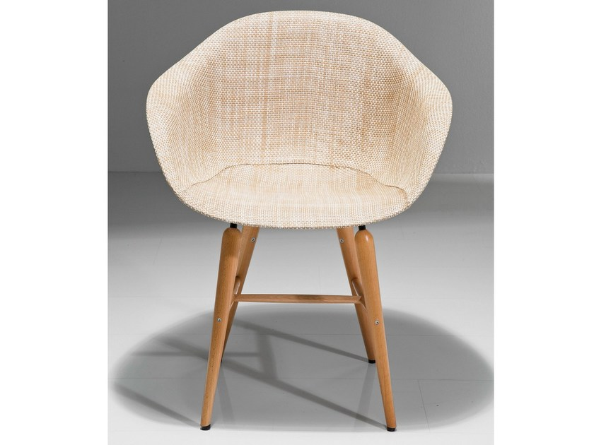 PVC easy chair with armrests FORUM WOOD NATURAL by KARE-DESIGN