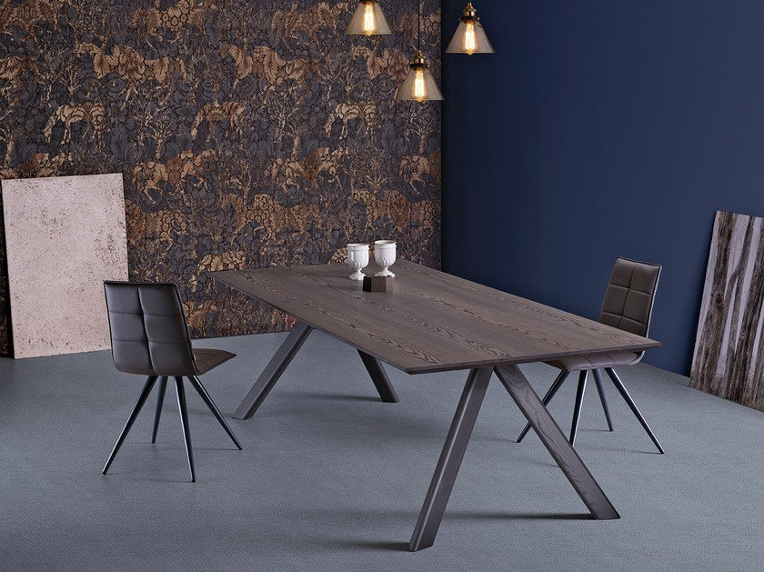 Contemporary style rectangular wooden dining table FOX by Natisa