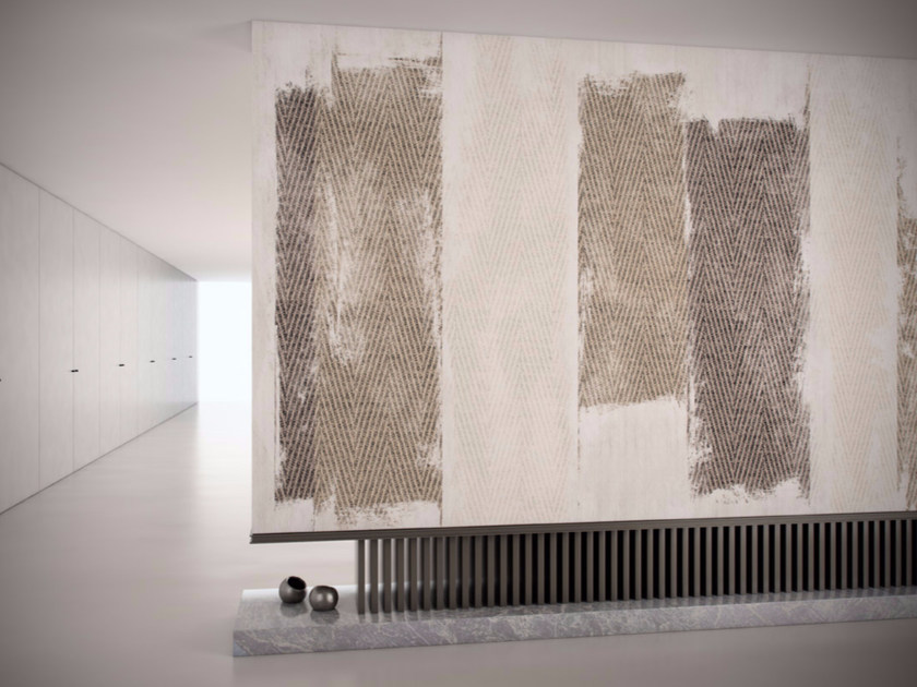 Washable vinyl wallpaper with textile effect FRAGMENT - GLAMORA