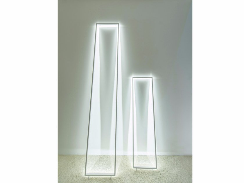 LED aluminium floor lamp FRAME ILLUSION by Inarchi