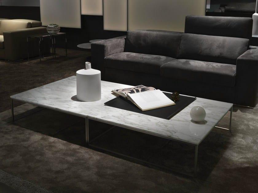 Sled base low square coffee table FRAME | Marble coffee table - Giulio Marelli Italia