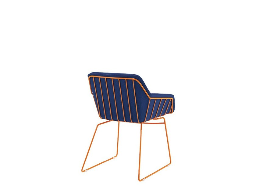 Sled base reception chair FRANK | Reception chair by Sesta