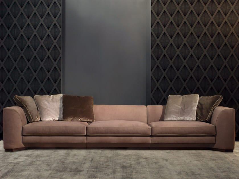 Modular 3 seater leather sofa FRANKLIN | Leather sofa by Borzalino