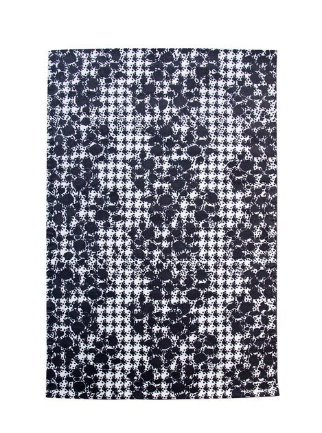 Rectangular fabric rug with geometric shapes FREEDOOM OF MOVEMENT - ROCHE BOBOIS
