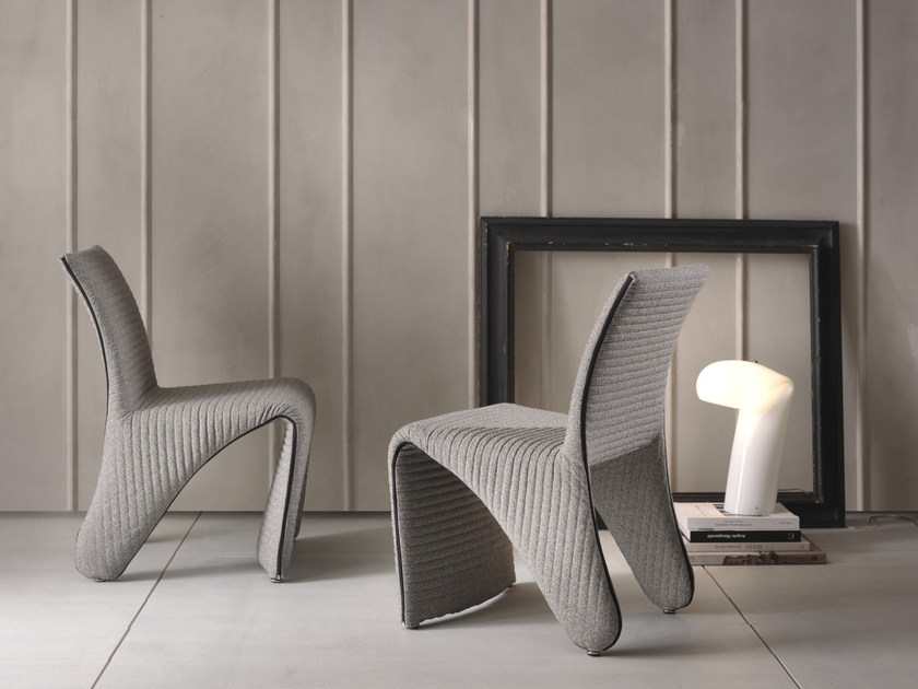 Fabric chair with removable cover FREELINE - Pacini & Cappellini