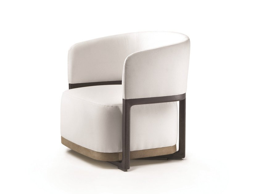 Fabric easy chair with armrests FRIDA - FLEXFORM