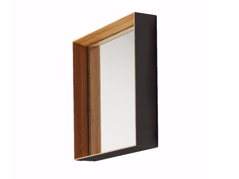 Square wall-mounted framed mirror FUJI | Square mirror by CFOC