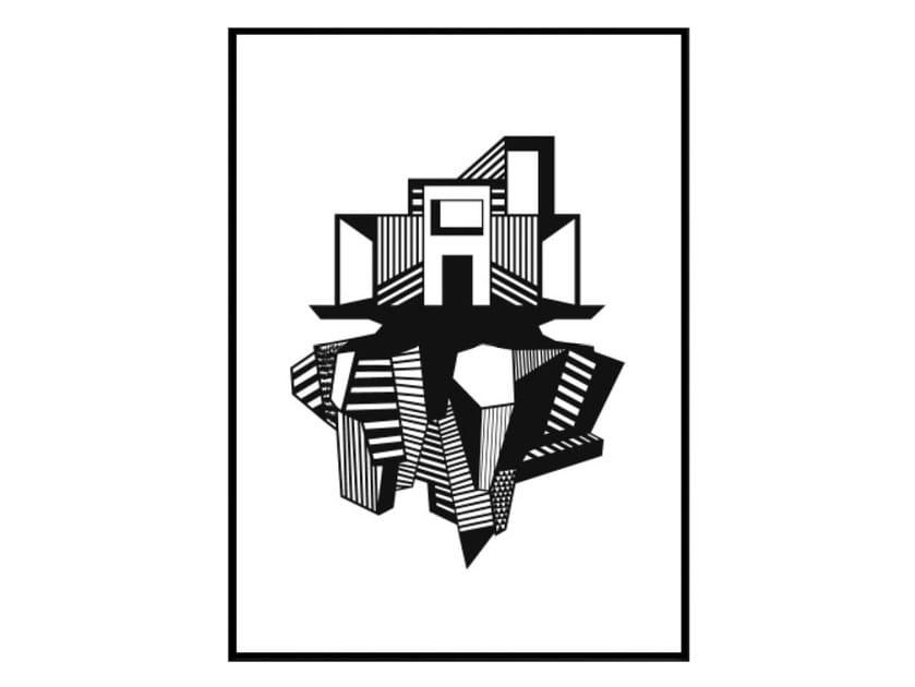 Print on paper FUNKIS HOUSE by Kristina Dam Studio