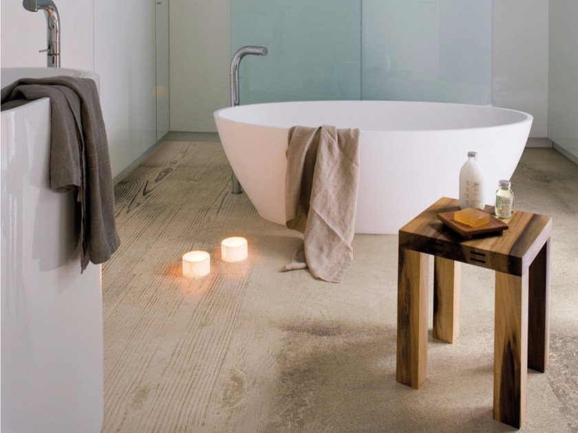 Wood effect floor wallpaper FUSION - Inkiostro Bianco