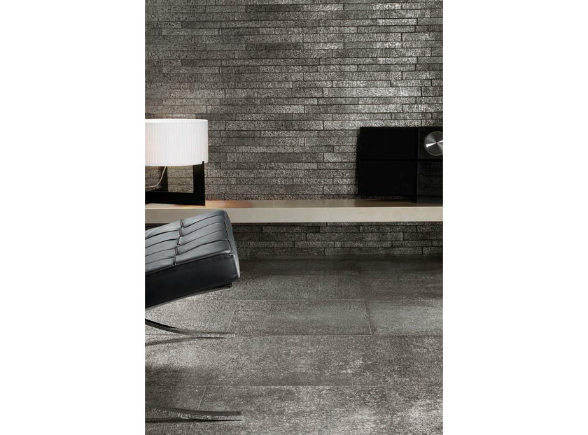 Porcelain stoneware wall/floor tiles with metal effect FUSION PLATINUM by La Fabbrica