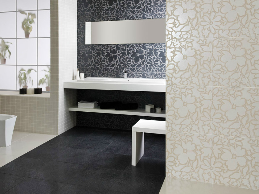 Porcelain stoneware wall/floor tiles with metal effect FUSION TITANIUM by La Fabbrica