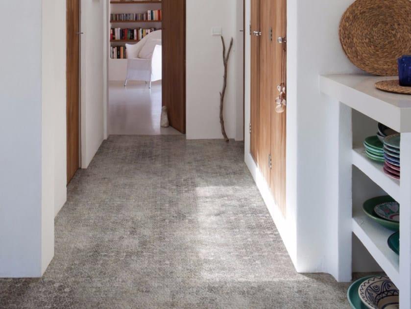 Motif stone effect floor wallpaper FUZZY FOAM - Inkiostro Bianco