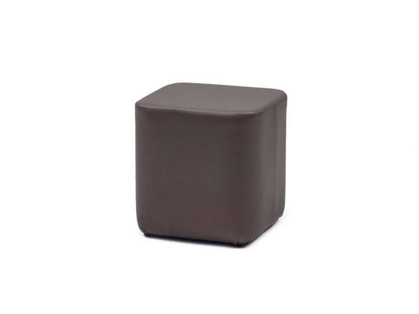 Upholstered leather pouf GALA CUBE X - Z-Editions