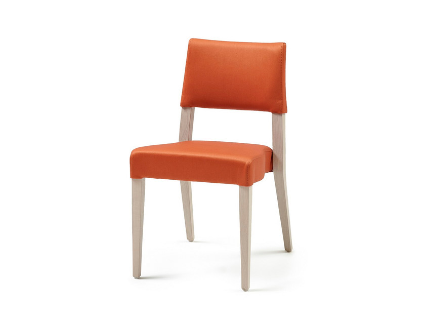 Upholstered stackable fabric chair GALA ST by Z-Editions