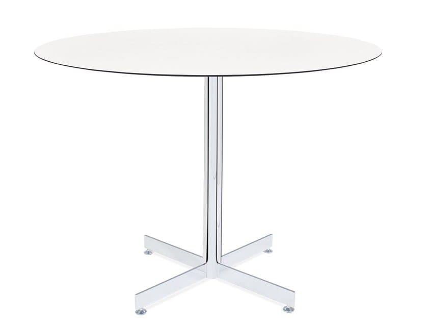 Metal table base with 4-spoke base GAMA by Papatya