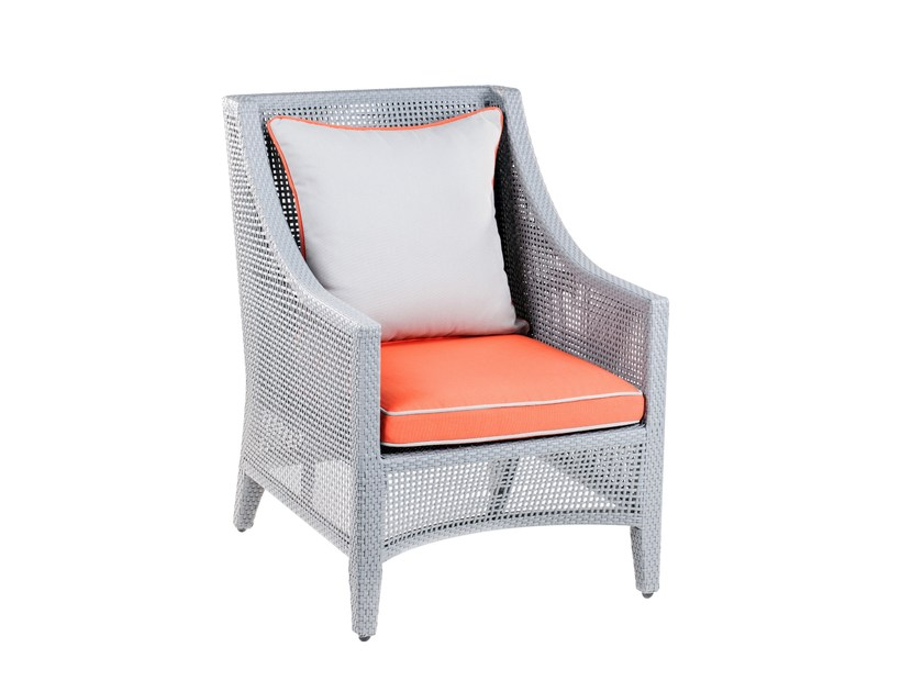Garden armchair with armrests GRACE | Garden armchair - 7OCEANS DESIGNS