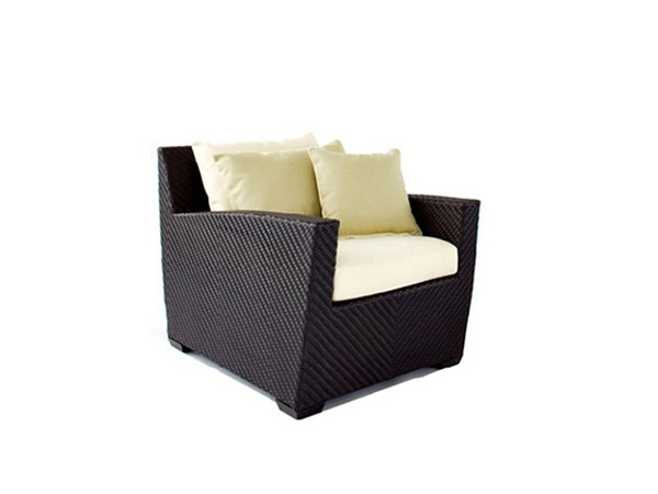 Garden armchair with armrests ARLINGTON | Garden armchair - 7OCEANS DESIGNS