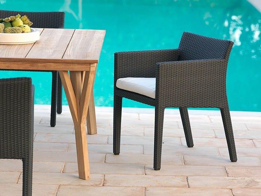 Garden armchair with armrests SUNLACE | Garden armchair by Unopiù
