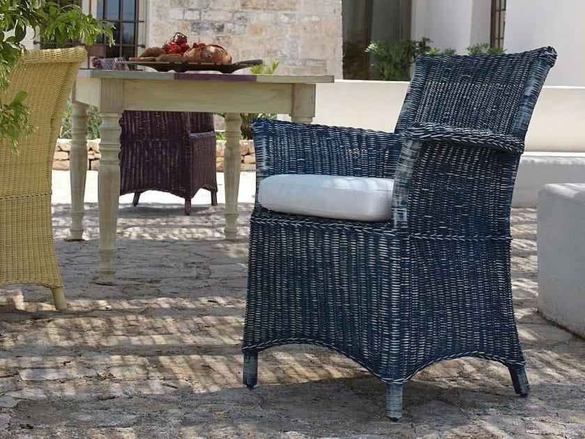Garden armchair with armrests CAPRI | Garden armchair by Unopiù