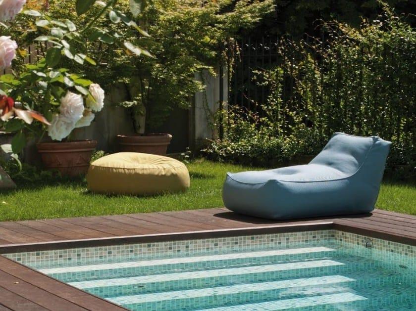 Fabric garden armchair ZOE | Garden armchair by Verzelloni