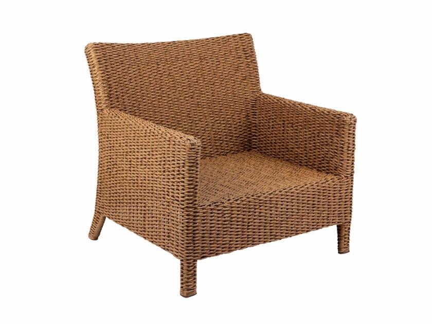 Nenuphar fibre garden armchair with armrests ABONDO | Garden armchair with armrests - ROYAL BOTANIA