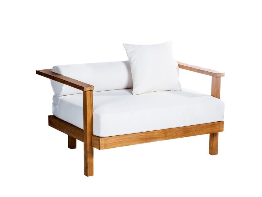 Garden armchair with armrests CAROLINA BEACH | Garden armchair with armrests - 7OCEANS DESIGNS
