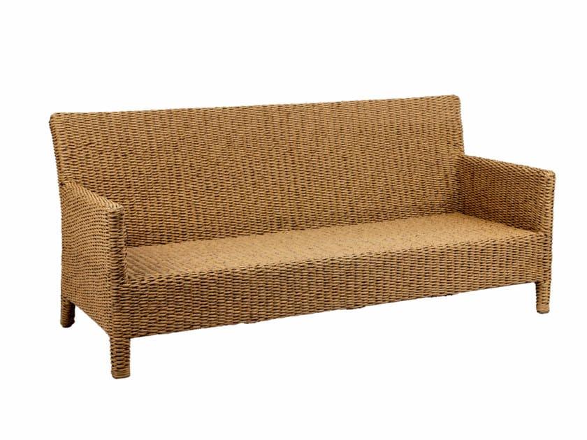 Nenuphar fibre garden bench with armrests ABONDO | Garden bench - ROYAL BOTANIA