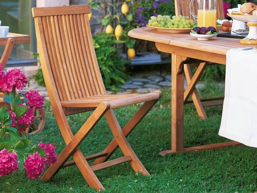 Folding teak garden chair WILLIAM   Garden chair by Unopiù