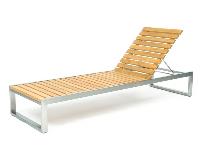 Recliner steel and wood garden daybed CITYSCAPE | Garden daybed - 7OCEANS DESIGNS