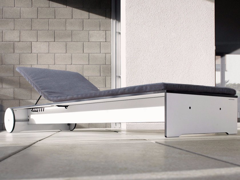 Recliner garden daybed with Casters RIVA | Garden daybed by conmoto